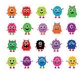 cute monsters vector collection set