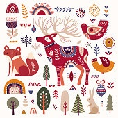 Christmas decorative illustration