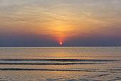 sun rise on the ocean