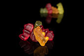 Colorful gummy bear