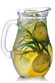 Iced tarragon lemonade jug, paths