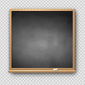 Vector illustration of gray square chalkboard