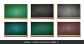 Vector collection of horizontal chalkboards