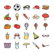 Picnic, Travel, Holidays Icons Pack