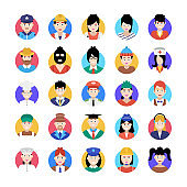 Professional Avatar Icons Pack