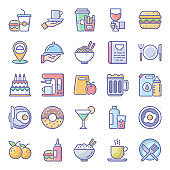 Pack Of Food Flat Icons