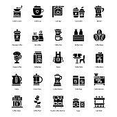 Coffee Shop Glyph Icons