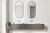 White double bathroom sink