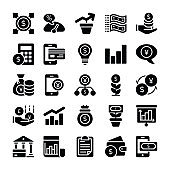 Investments And  Finance Icons Set