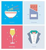 Party, Celebration, Birthday Flat Icons