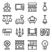 Home Appliance Line Icons Pack