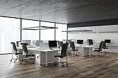 Loft gray ceiling office corner