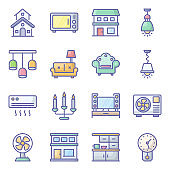Home Appliance Flat Icons Pack