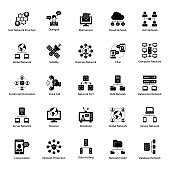 Pack Of Communication glyph Icons