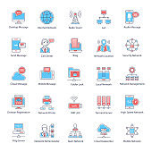 Global Networking Flat Icons Pack