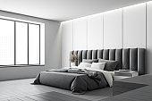 White panel luxury master bedroom corner