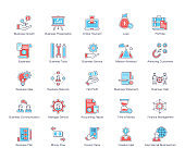 Business Services Flat Icons Pack