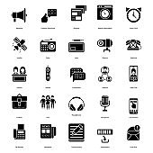 Communication Glyph Icons