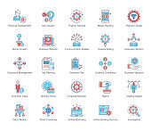 Financial Services Flat Icons Pack