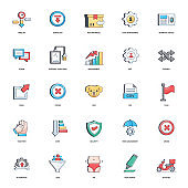 Business Document Flat Icons Pack