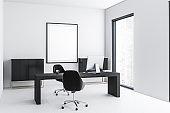 White manager office corner, poster