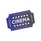 Film ticket sign