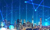 Digital city. Smart city concept. Network