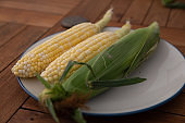 Corn on the cobs ready to eat