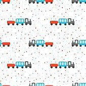 Seamless pattern with train.