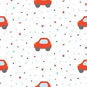 Seamless pattern with car.