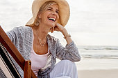 The beach brings her so much joy