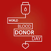 Modern vector illustration of World blood donor day. Donate blood concept. 14 June