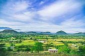A mountain view in Teotitlan del Valle, Oaxaca, Mexoco