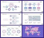 Business inforgraphic design set for project management concept