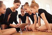Watching Videos in dance Class