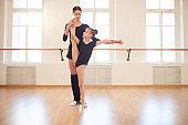 Coach Working with Gymnast