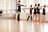 Girls in Ballet School