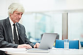 Senior Businessman Using Laptop