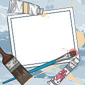 Art Supply and Paints Template and Background
