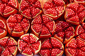 Fresh pomegranate background