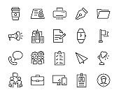 set of work icons, such as office, job, manage, career