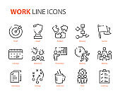 set of work icons, planning, business, company, office, job