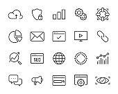 set of seo icons, marketing, service, advertise