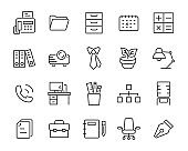 set of office icons, company, document, work place, presentation