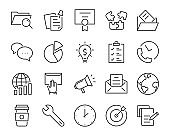 set of work icon, such as, working, report, office, business, manage
