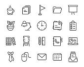 set of office icons, company, workplace