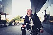 Active senior businessman