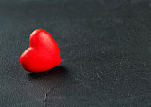 Red plastic heart