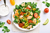 Chicken salad with vegetables