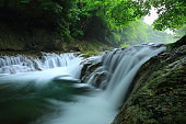 Iwate Prefecture Summer Waterfall